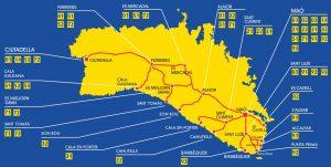 Itinerarios autobuses Menorca