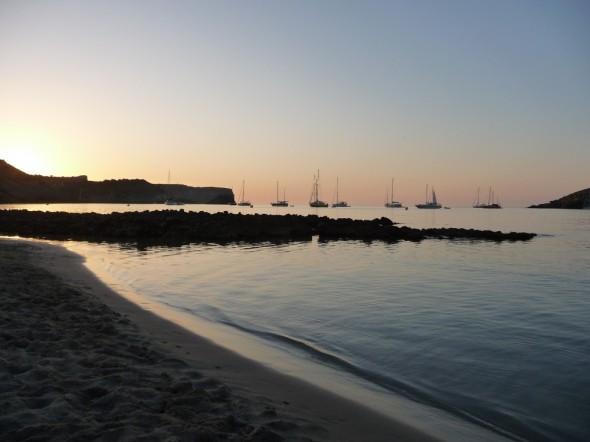 La Vall - Playa des Tancat al atardecer