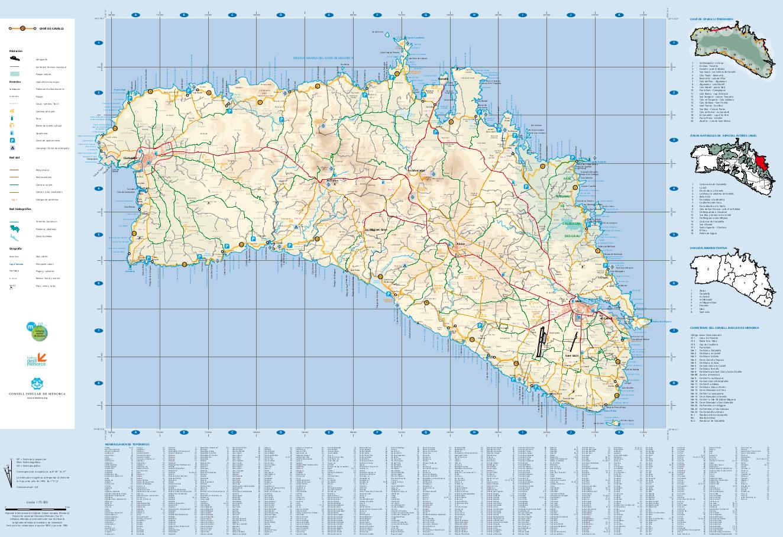 Maps of Menorca Menorca Diferente