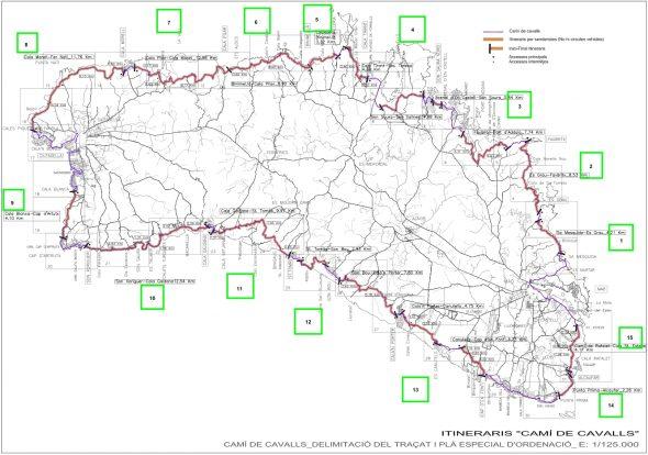 Itinerarios del Camí de Cavalls