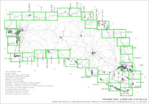 Mapa de los Tramos del Camí de Cavalls (CIME)