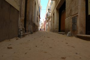 Calles de Ciutadella durante las fiestas de Sant Joan