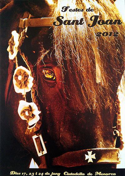 Cartel de las fiestas de Sant Joan en Ciutadella 2012 (Francesc Pons)