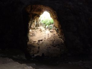 Vista desde lo más profundo de la cueva
