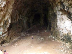 Vista desde la entrada de la cueva