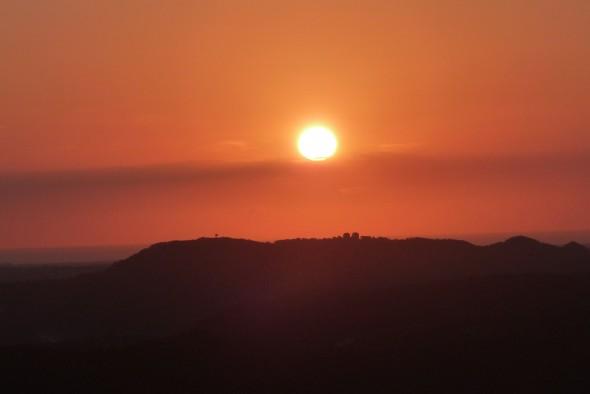 Puesta de sol desde Monte Toro
