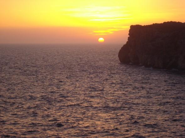 Puesta de Sol desde Cova Xoroi