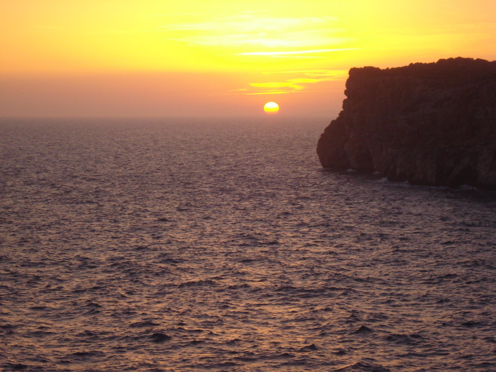 las 5 mejores puestas de sol de menorca menorca diferente
