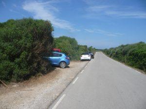 Parking en el tramo 3 del Camí de Cavalls