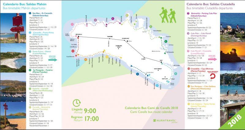 Bus Cami de Cavalls 2018 - NuraTravel