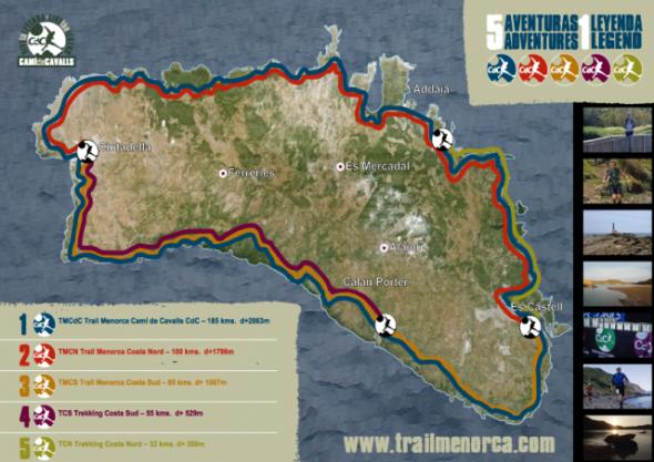 Recorridos carreras Trail Menorca 2015