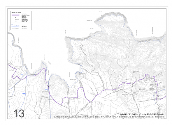 Mapa Camí de Cavalls - La Vall