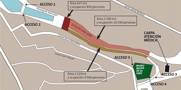 Mapa de accesos a es pla - sant joan 2015
