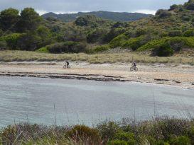 Mountain bike en la playa de Es Grau - P1020610