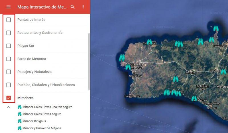 Mapa Interactivo de Miradores